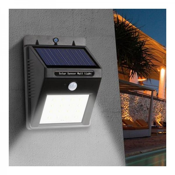 Lampa solara sensor de miscare IR IP65 30 LED 2W 300 lm
