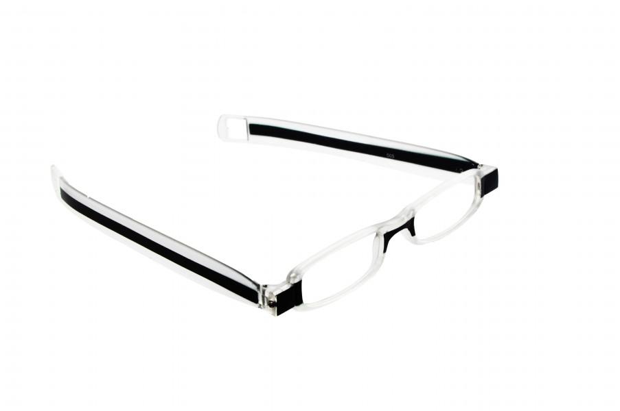 Ochelari de citit cu rama pliabila si prindere cu clips