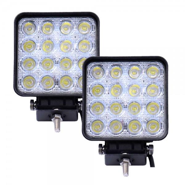 Proiectoare LED Patrate 48W cu 16 leduri