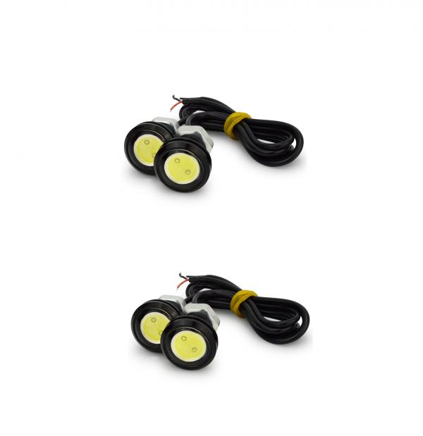 Set 4 leduri auto 3W fiecare , lumini de zi sau pt interior