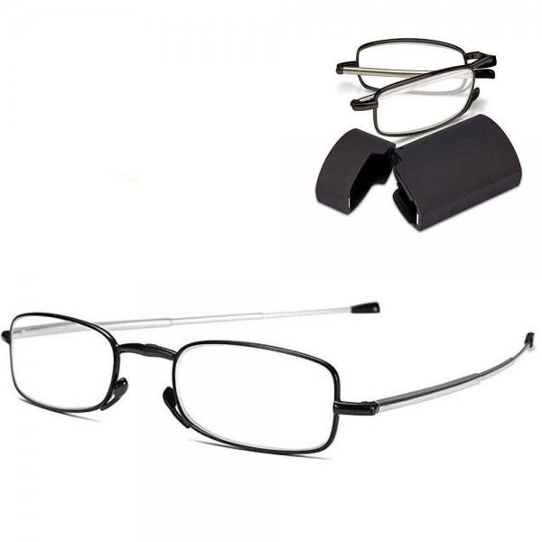 Ochelari pliabili unisex pentru citit, cu toc