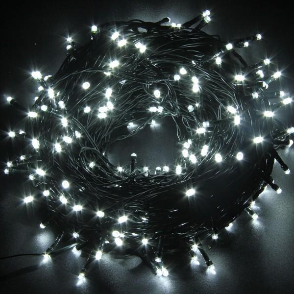 Instalatie de Craciun 16 metri cu 200 LED, alb rece