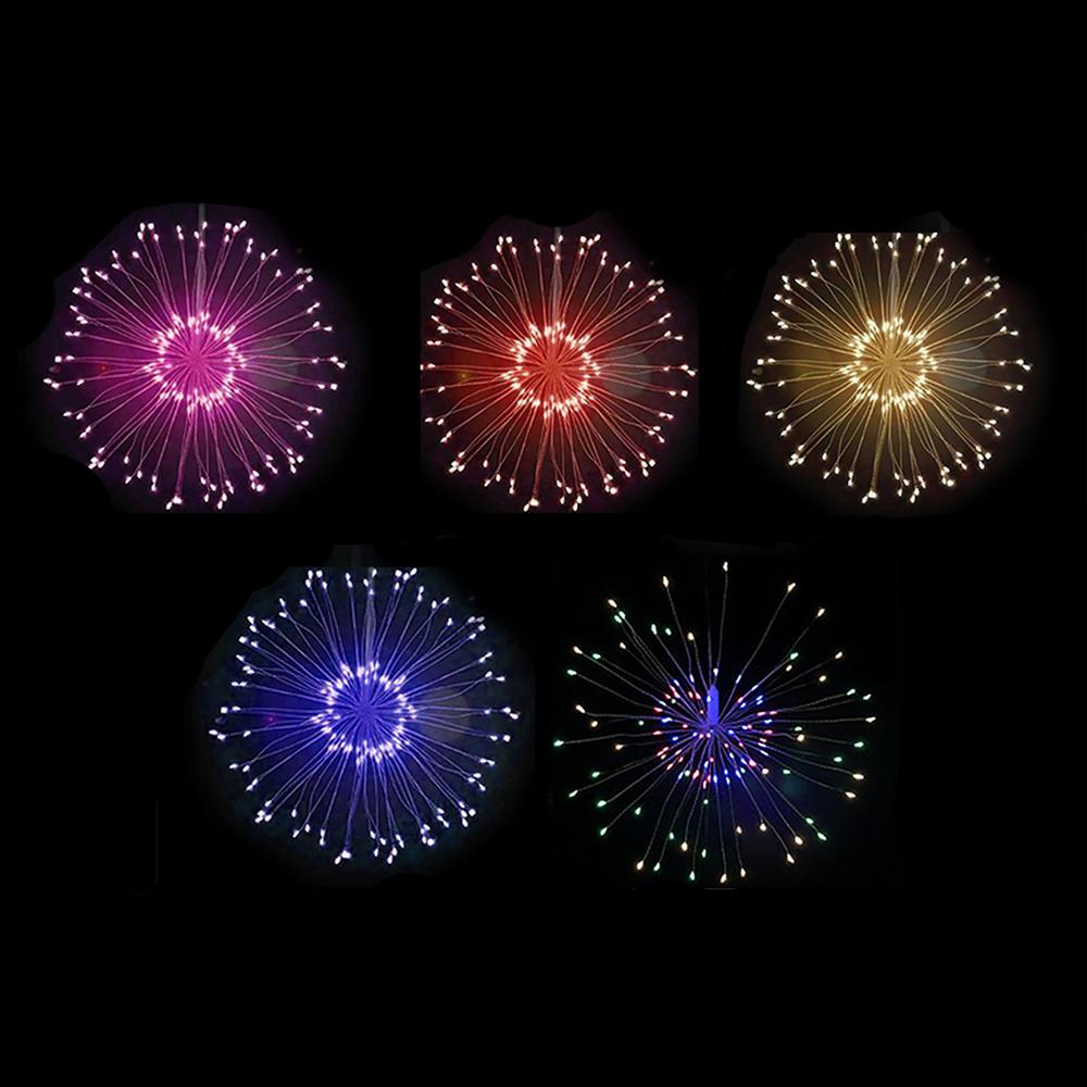 Decoratiune de craciun tip artificii cu leduri diferite culori