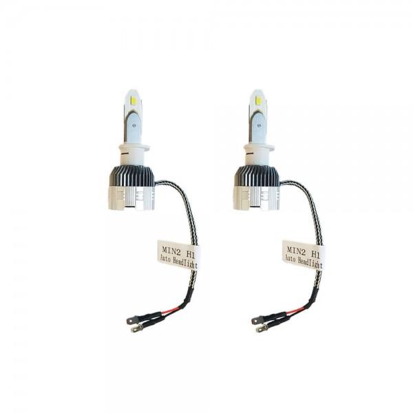 Set 2 becuri LED H1 mini, Lumina ALBA, 8000k