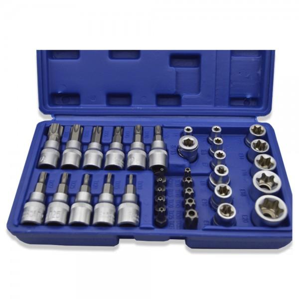 Trusa Tianfeng Tools cu adaptor si tubulare, 34 piese
