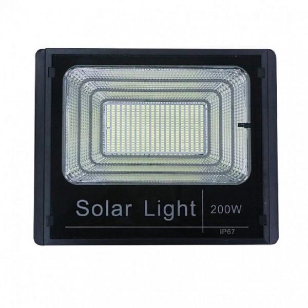 Proiector 200W 400 leduri si panou energie solara, usor  instalat