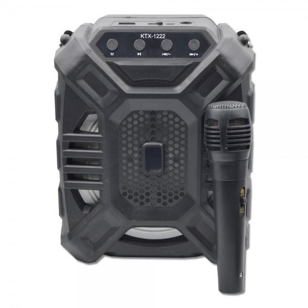 Boxa portabila KTX 1222 cu microfon, Wireless, USB, FM