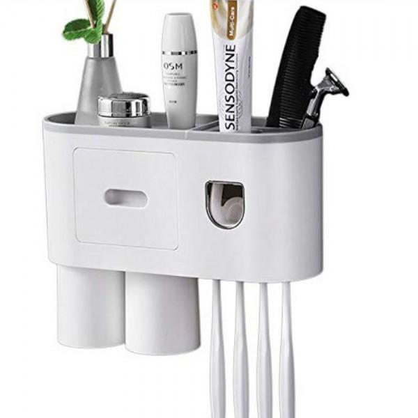 Suport 2 pahare magnetice si dispenser, 4 suporturi