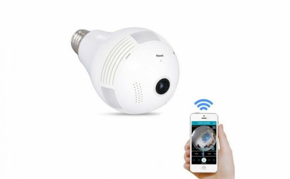 Camera video Tip Bec Wireless, card TF, vizionare pe telefon