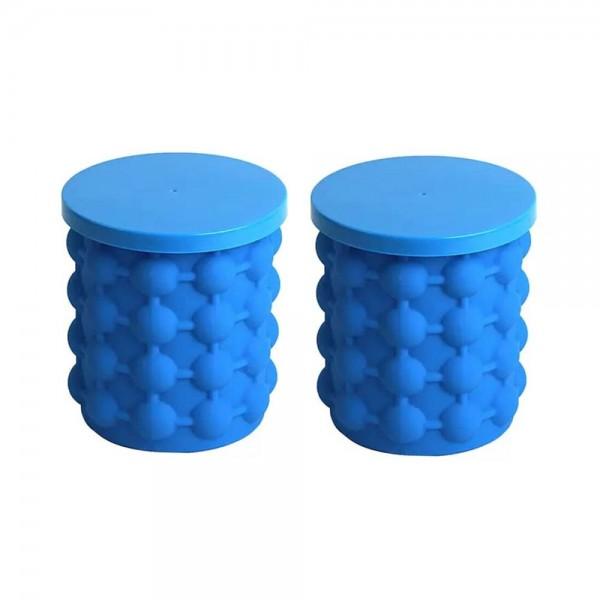 Set 2 x Forma pentru gheata, frapiera, silicon, 2 in 1