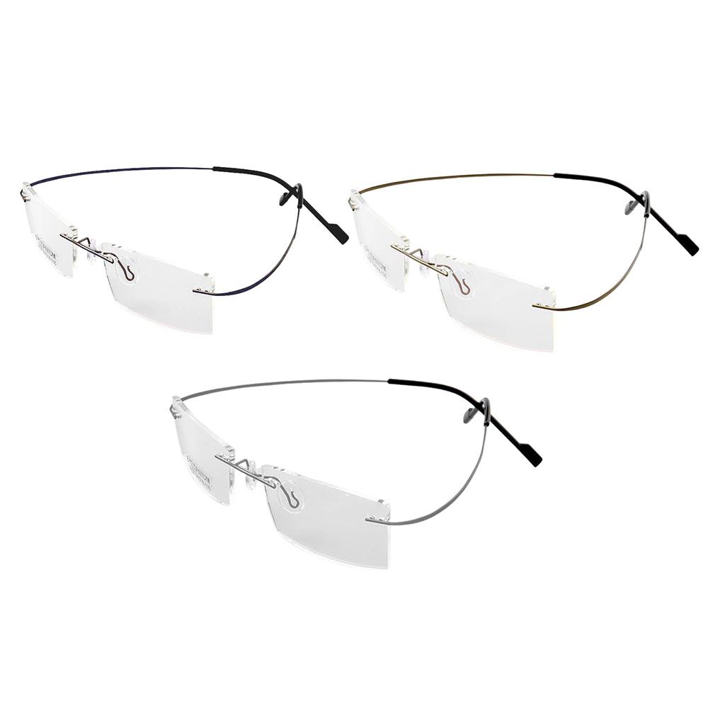 Rama de ochelari fara balamale, flexibila, din titan