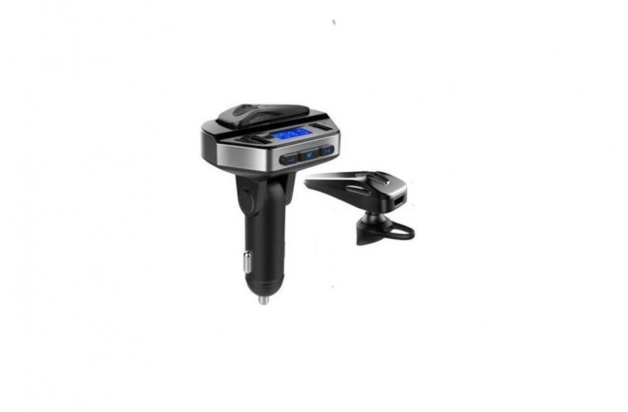 Set modulator MP3 si Handsfree cu casca bluetooth 12V, V6