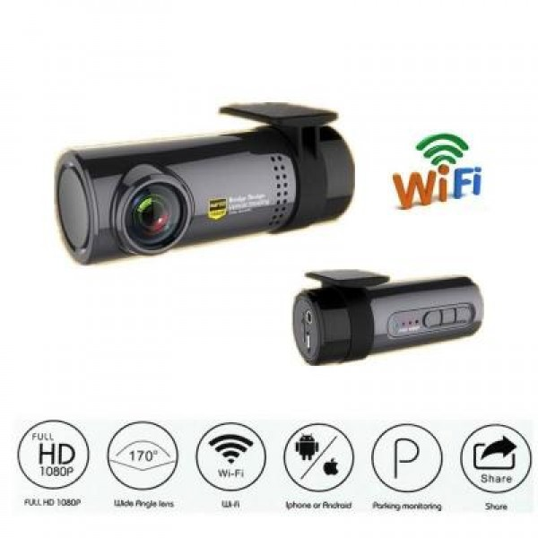 Camera auto DVR, HD, conectare la smartphone
