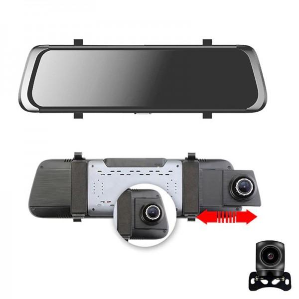 Camera  auto FullHD, dubla ecran tactil 10 inch