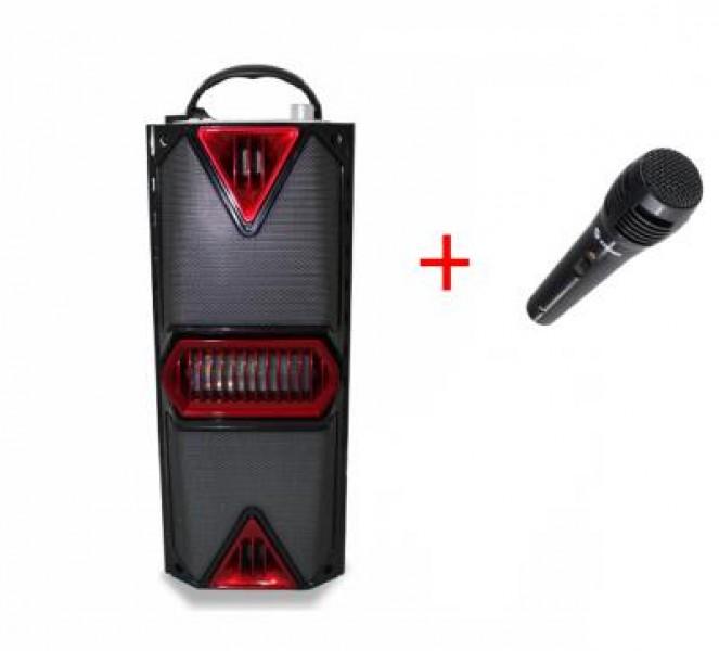 Boxa Portabila Bluetooth cu Lumini + Microfon Cadou