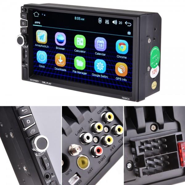 Player auto MP5 2DIN 7 inchi cu GPS si 16 GB memorie interna
