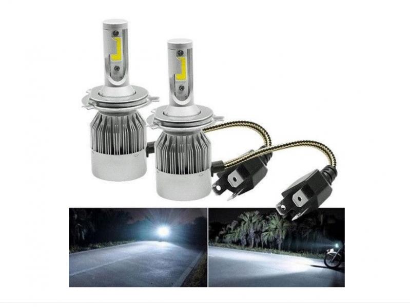 Set 2 becuri cu LED AUTO H4, 6000K, 36w pe bec