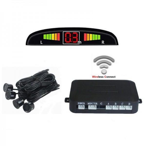 Set 4 Senzori de parcare auto, afisaj LED, 12V