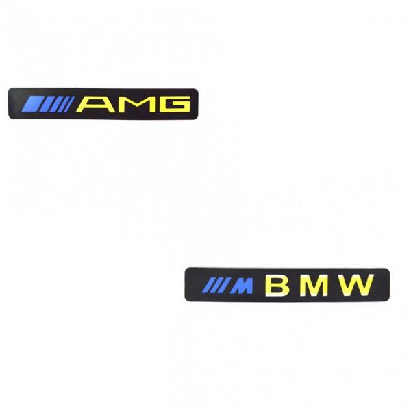 Set 2x Ornament prag auto cu iluminare led Mercedes Benz, BMW